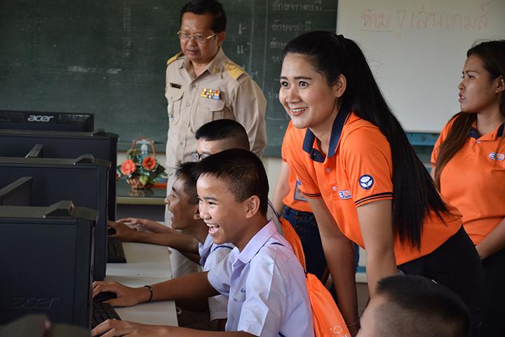 โครงการบรอดแบนด์อินเทอร์เน็ต เพื่อการศึกษาฟรี โรงเรียนบ้านคลองทราย อ.บ้านฉาง จ.ระยอง